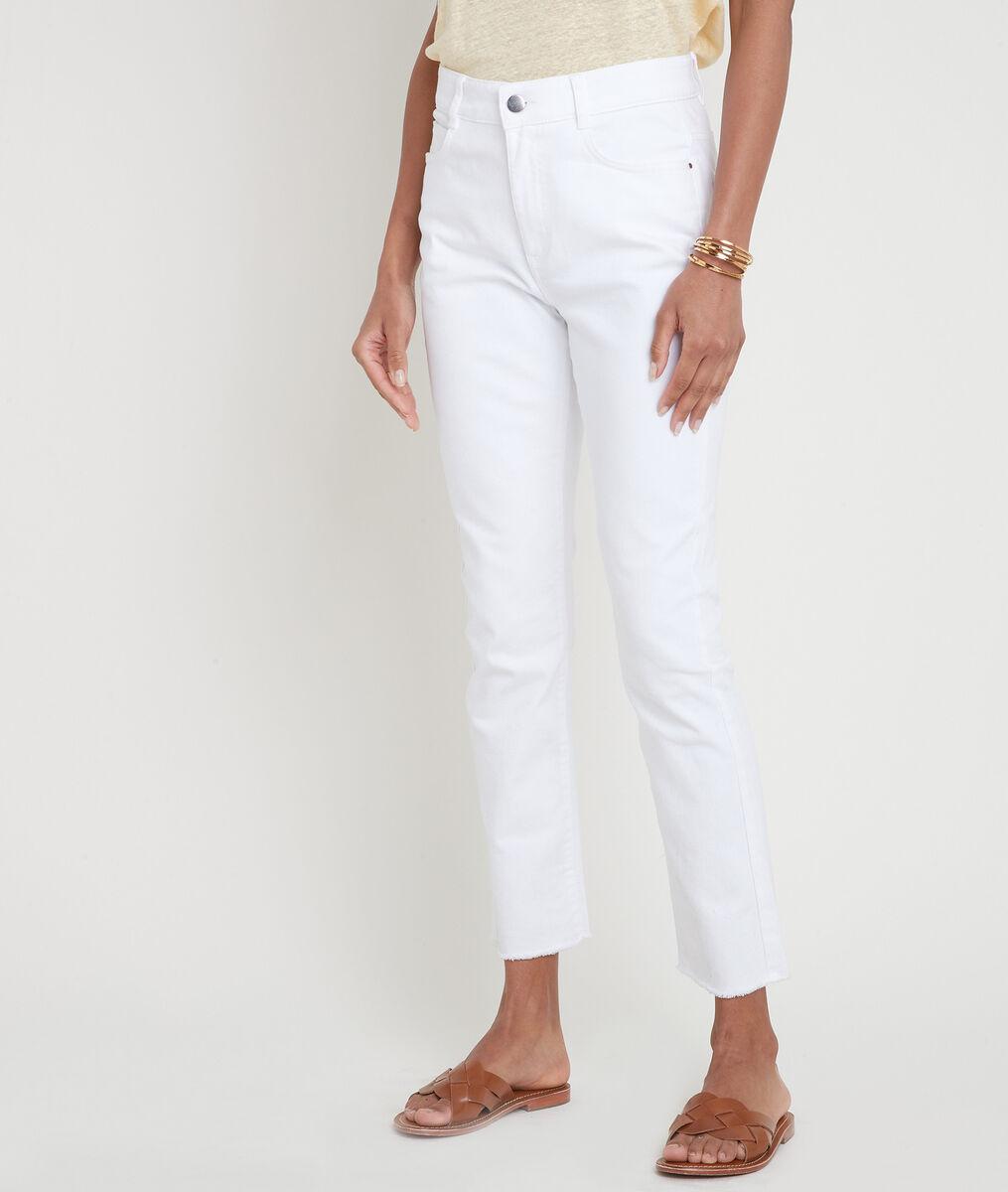 Jean droit à bords francs en coton blanc Patience PhotoZ | 1-2-3