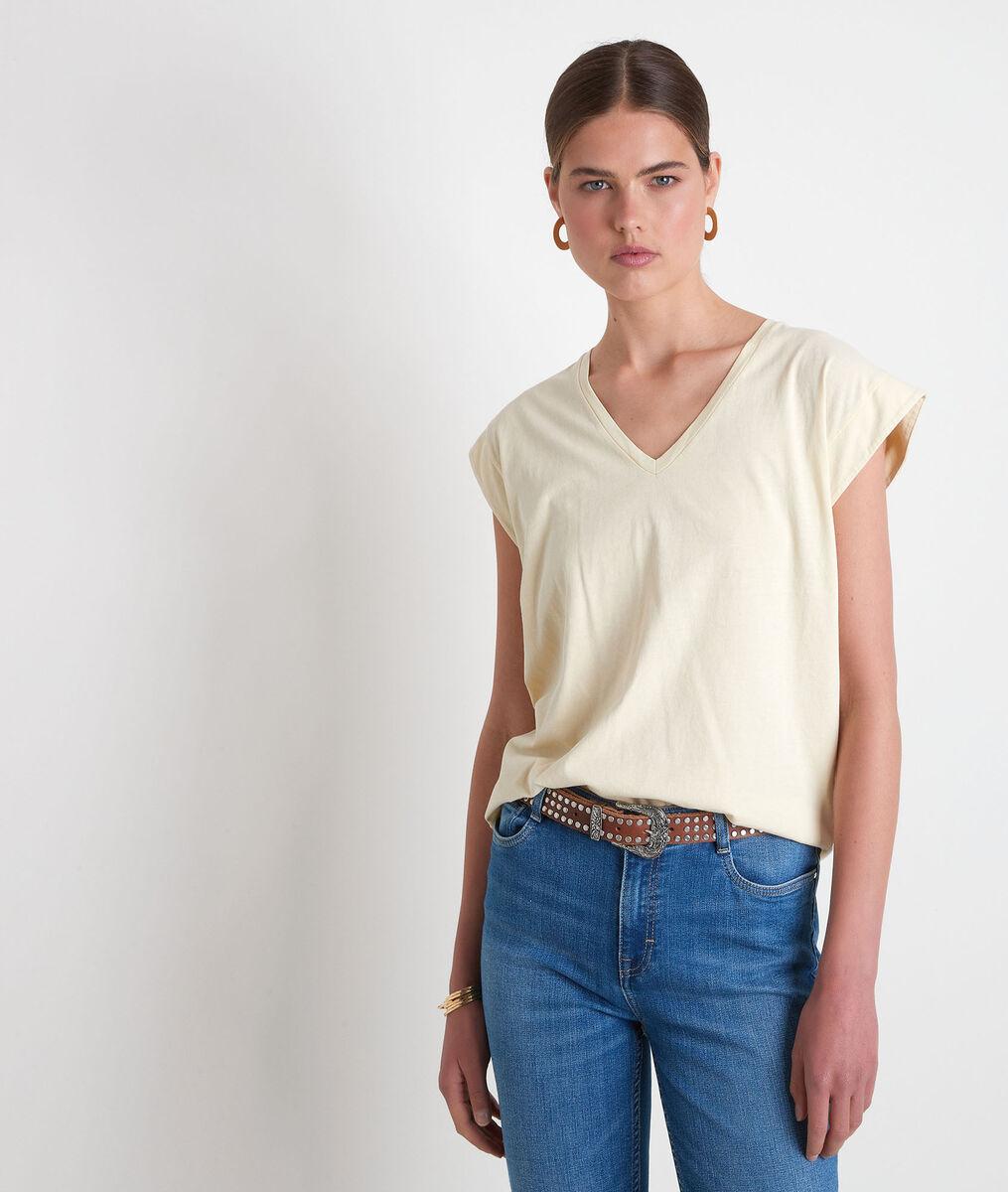 Strogeel T-shirt van biologisch katoen Ideal PhotoZ | 1-2-3