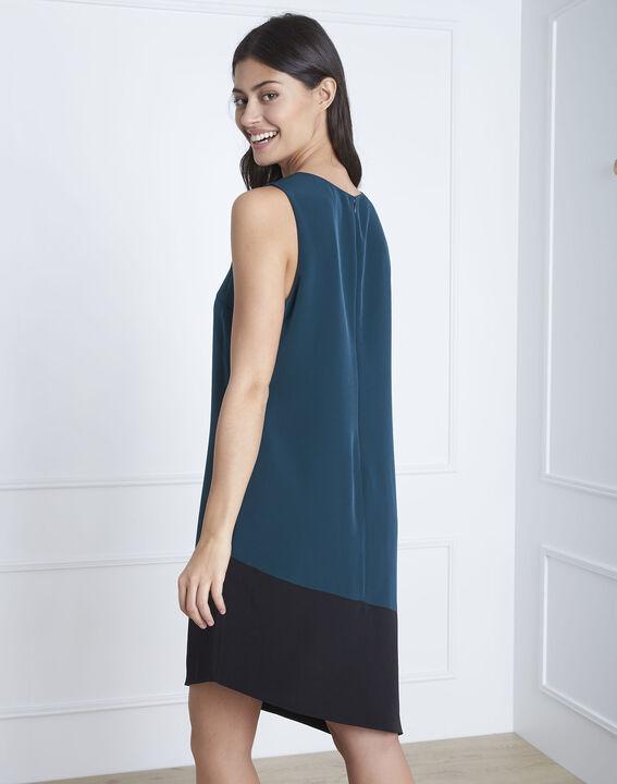 Asymmetrisches Kleid in Dunkelgrün Horline (4) - Maison 123