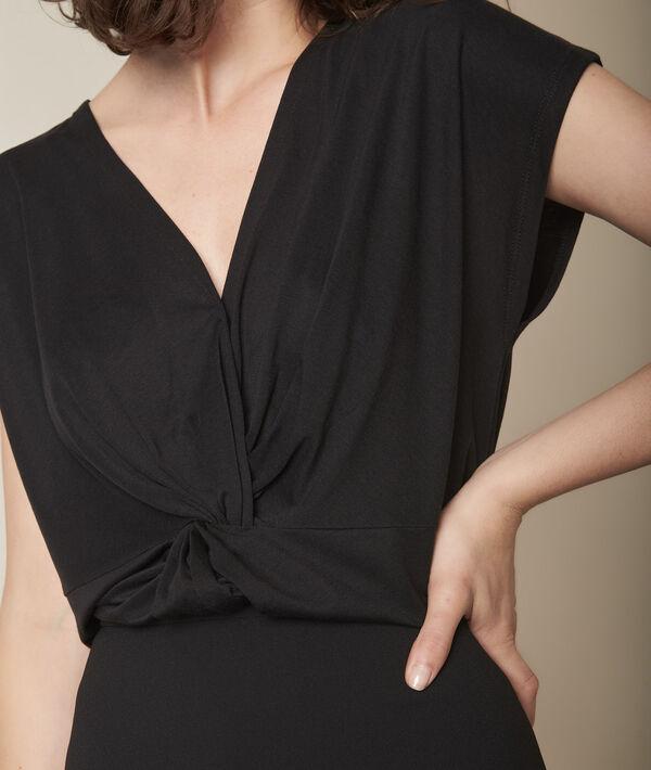 Tee-shirt cache-cœur noir Carine PhotoZ | 1-2-3
