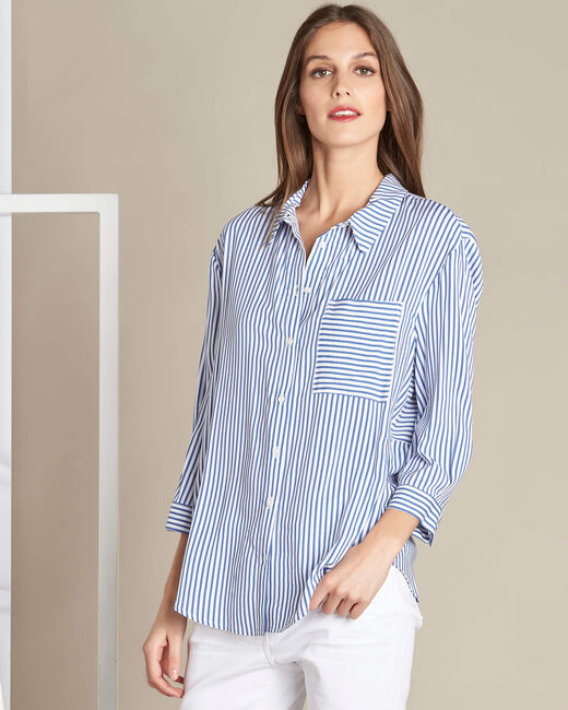 Darwin blue striped shirt (2) - 1-2-3