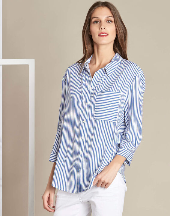 Darwin blue striped shirt (3) - 1-2-3