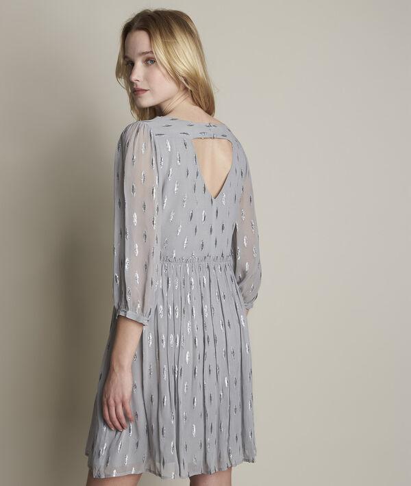 Robe gris chiné lurex Océane PhotoZ | 1-2-3