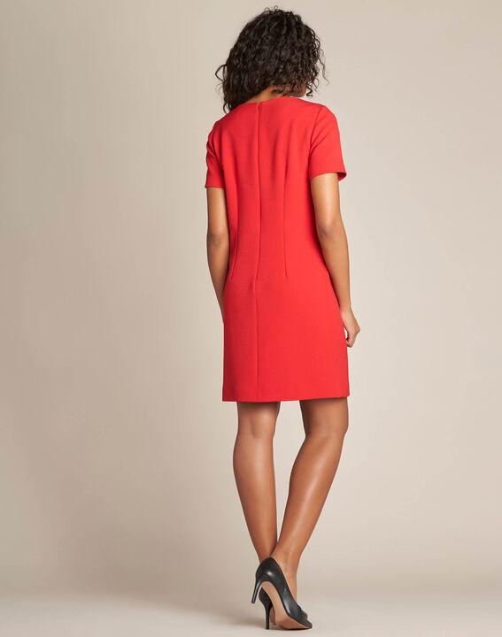 Robe droite rouge Amanda (4) - 1-2-3