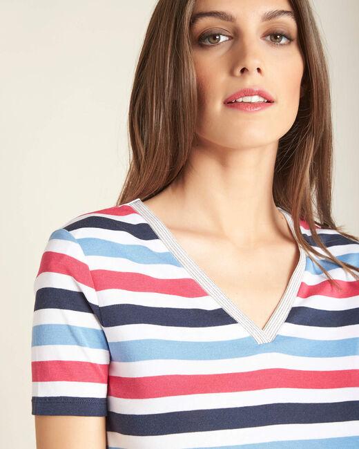 Marineblaues Streifen-T-Shirt Embruns (1) - 1-2-3