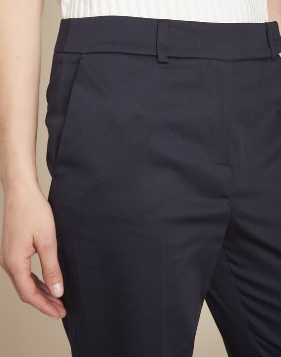 Rubis navy cigarette trousers (3) - Maison 123