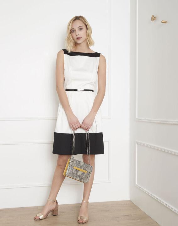 Robe noir & blanc colorblock Hisis (2) - Maison 123