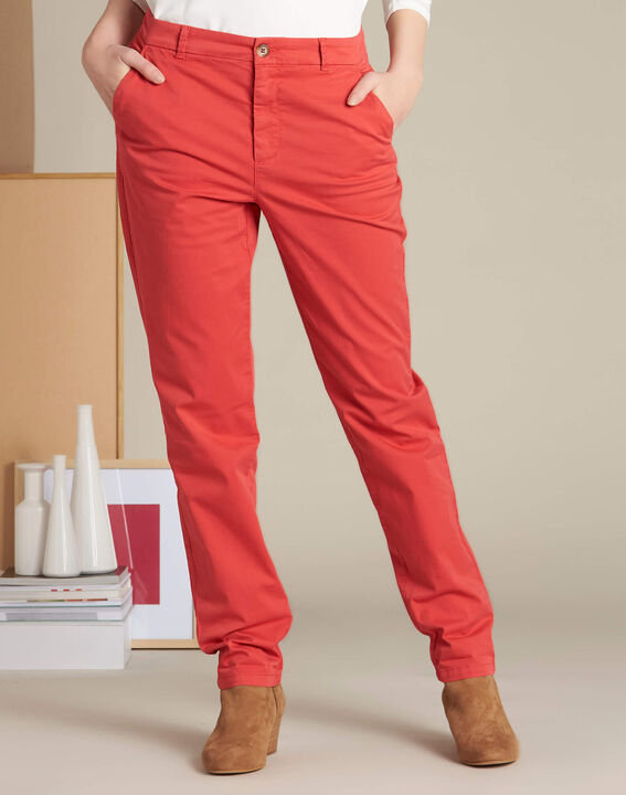 Victoria raspberry chinos with turn-ups (3) - 1-2-3