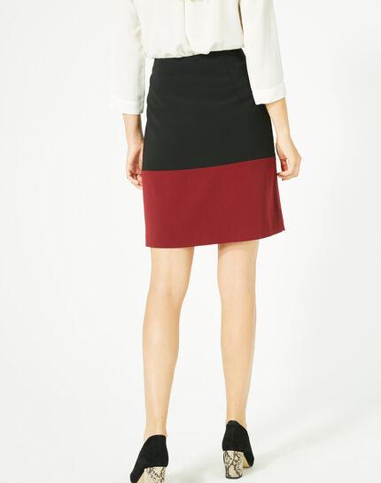 Jupe bicolore noire et carmin Fleury (5) - 1-2-3