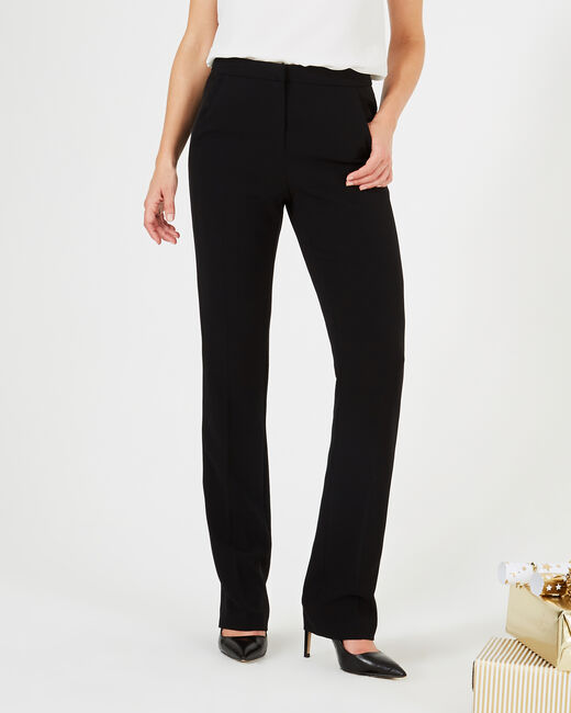 Victorien tailored black trousers with satin strips (2) - 1-2-3