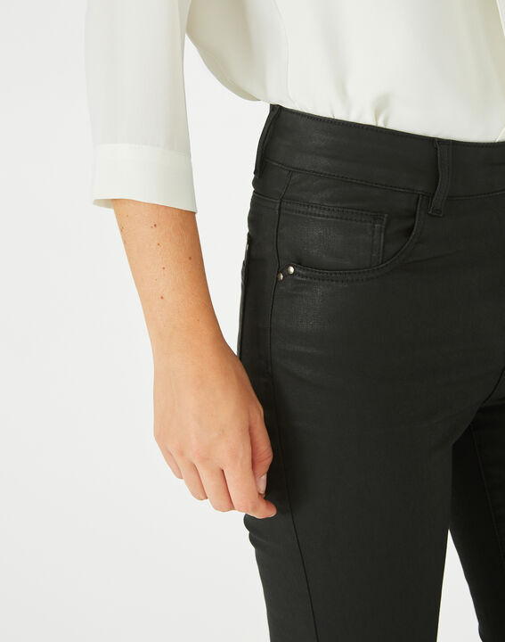 Oliver ⅞-length, coated black jeans (3) - 1-2-3