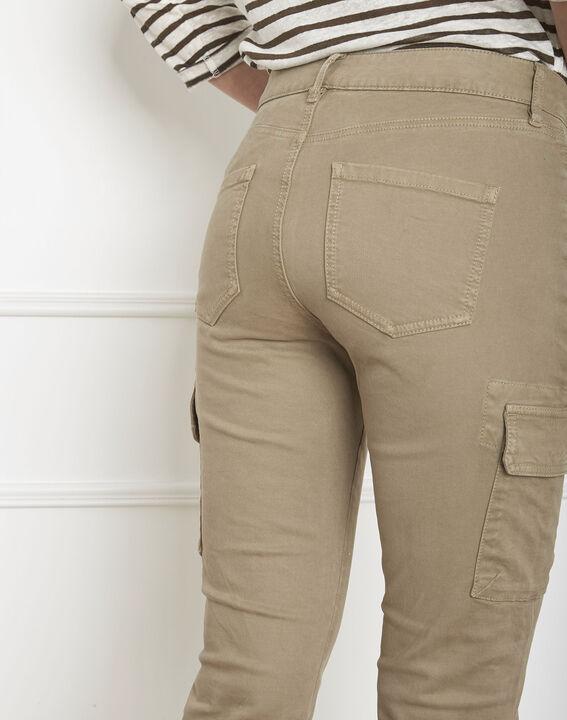 Pantalon kaki cargo Carolina (4) - Maison 123