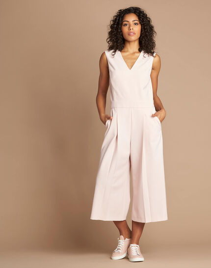 Pomme pink sleeveless cropped jumpsuit (1) - 1-2-3