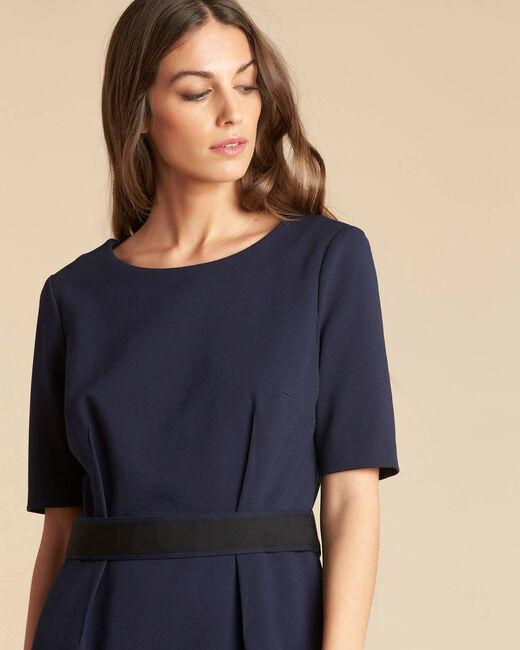 Pam belted navy blue dress (2) - 1-2-3