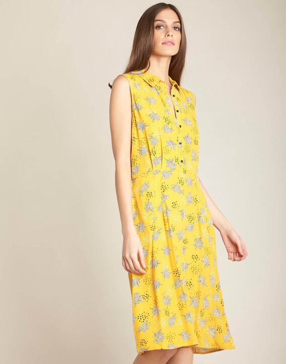 Patou yellow printed shift dress (3) - 1-2-3