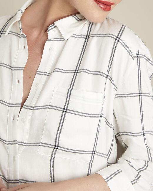 Ecru blouse met ruitjes Darwin (2) - 37653