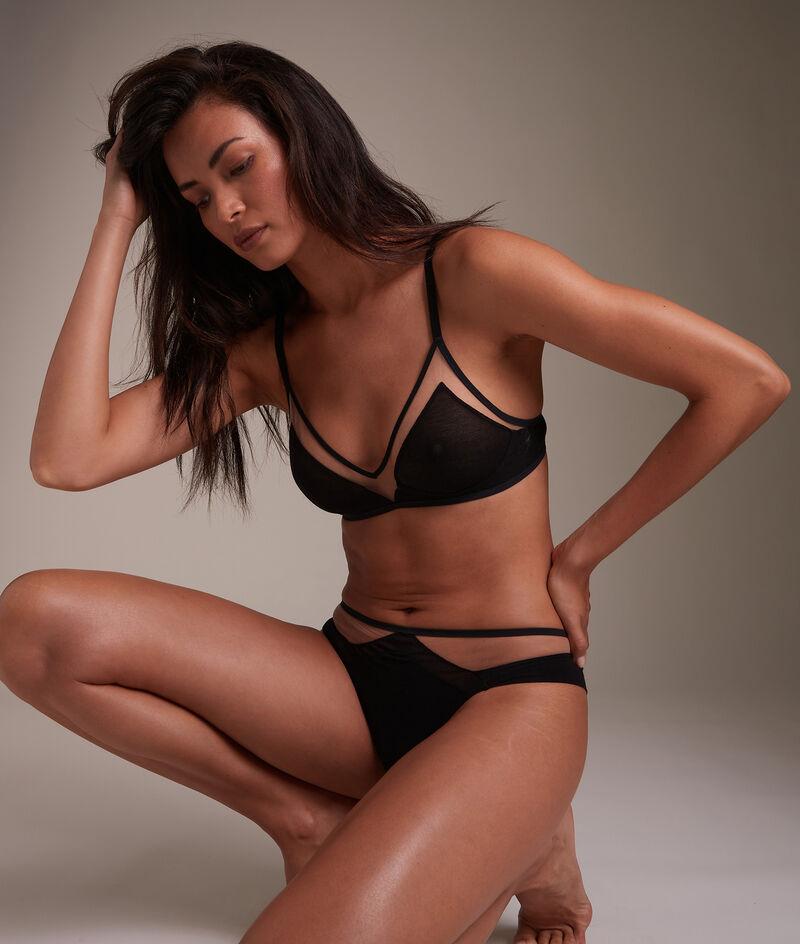 Tanga en tulle coton GOTS noir Rachel PhotoZ | 1-2-3