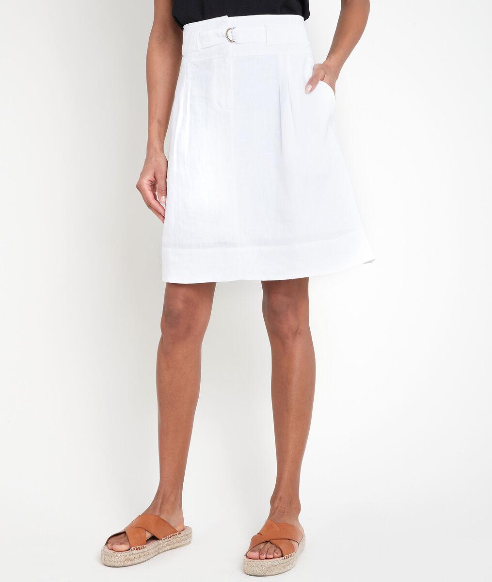 Jupe en lin certifié blanche Elisa PhotoZ | 1-2-3