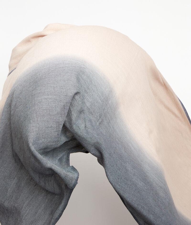 Foulard en laine et coton tie and dye gris Patricia PhotoZ | 1-2-3