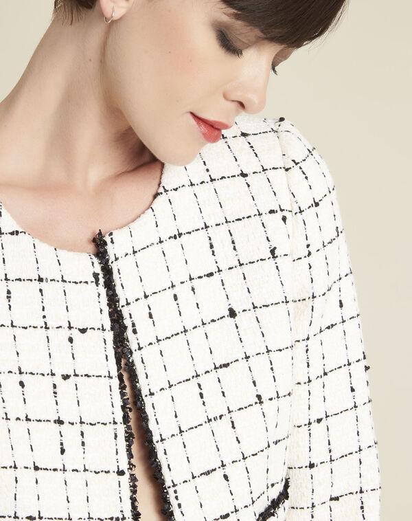 Charme ecru checked jacket (2) - 1-2-3