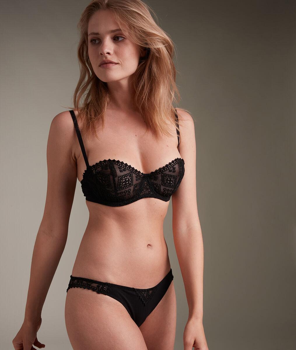 Culotte en broderie de coton française noire Lisa PhotoZ   1-2-3