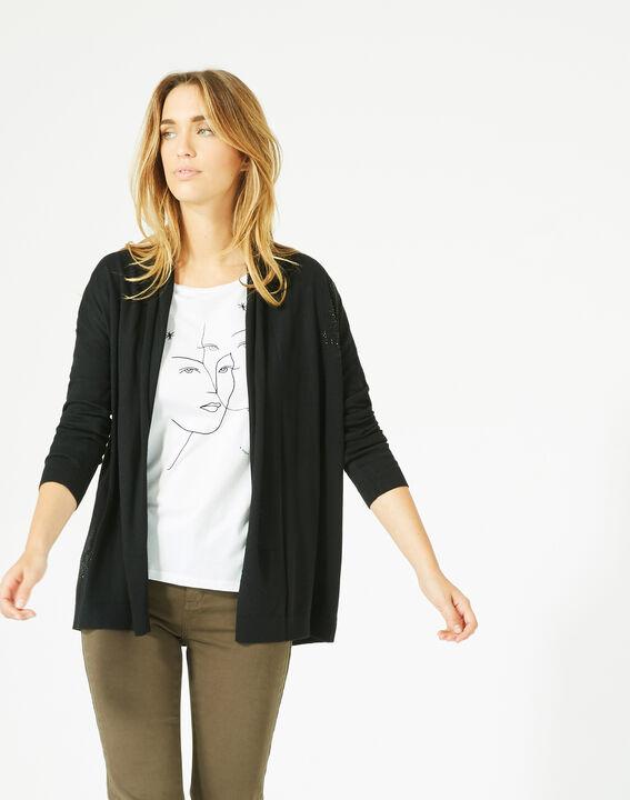 Pluton black cardigan/jacket with diamanté detailing (2) - 1-2-3