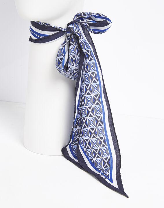 Flavian printed silk tie belt (3) - 1-2-3