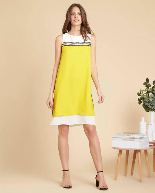 Robe noir & jaune détails dorés Isola (1) - 1-2-3