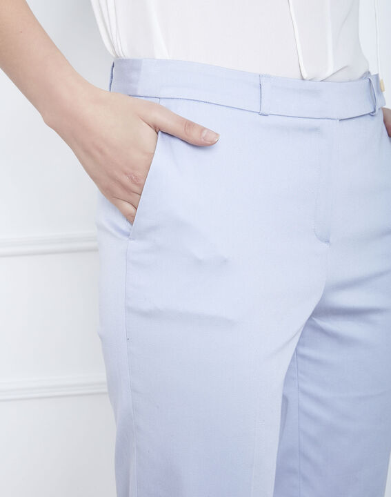 Pantalon bleu ciel cigarette Rubis (3) - Maison 123