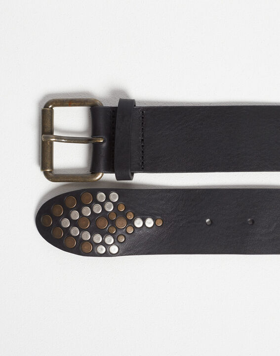 Roy wide decorative black grained belt PhotoZ | 1-2-3