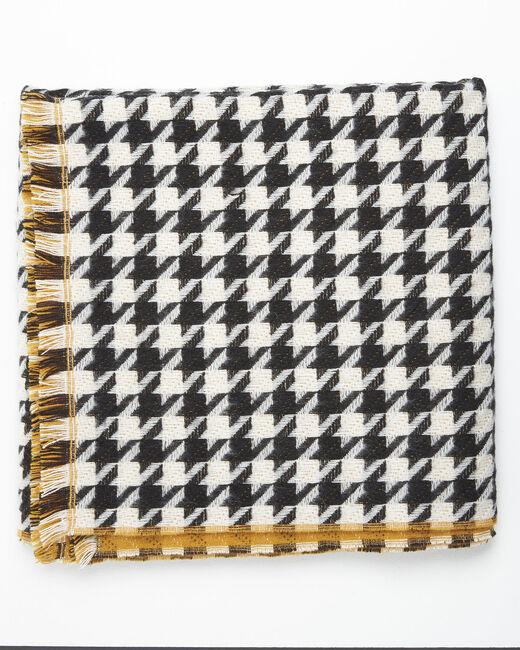 Echarpe motif pied de poule en laine Fautine (1) - 1-2-3