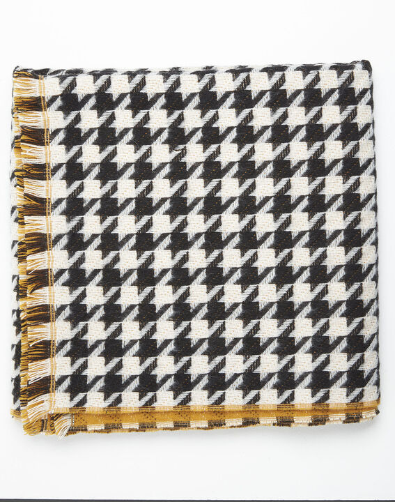 Fautine houndstooth wool scarf (2) - 1-2-3