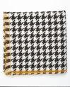 Wollen sjaal met pied-de-poule-motief Fautine (2) - 37653