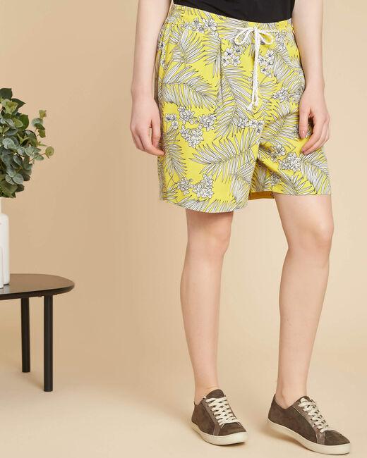 Gelbe Shorts mit Print Salma (2) - 1-2-3