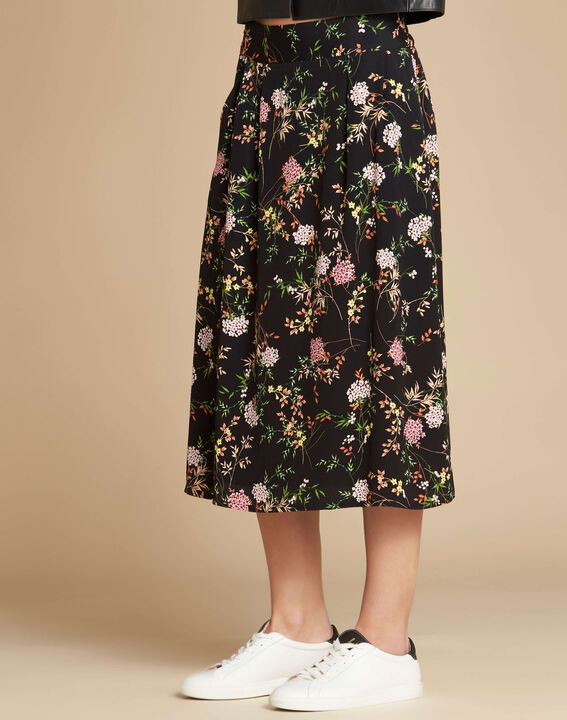 Lassie black floral printed skirt (3) - 1-2-3