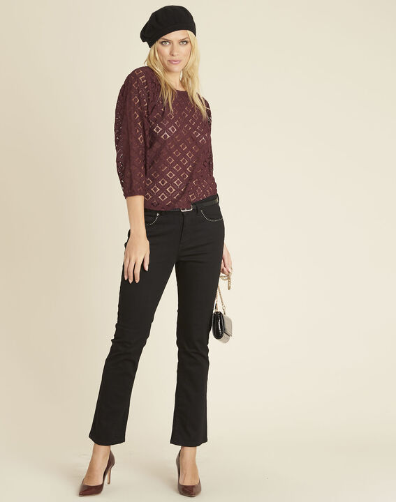 Caoula burgundy blouse in lace (2) - Maison 123
