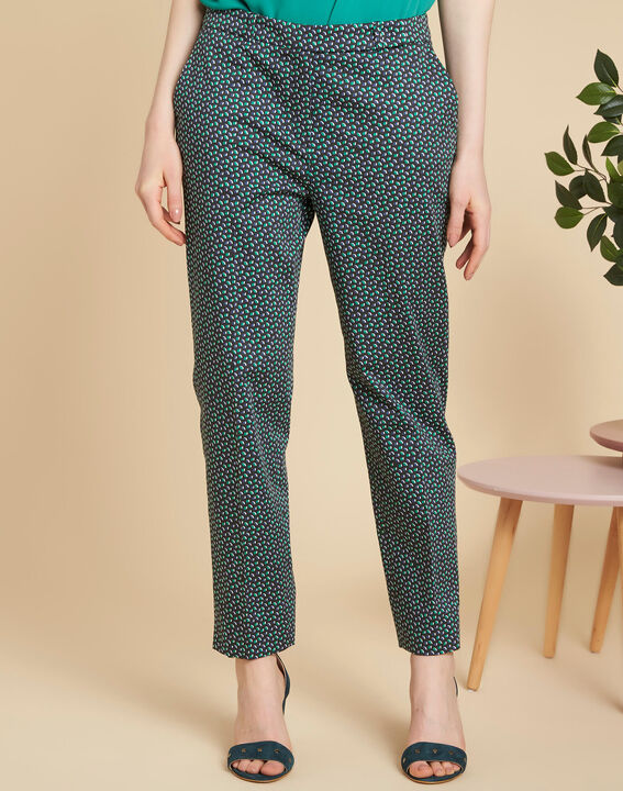 Rubis navy blue trousers with print (3) - 1-2-3