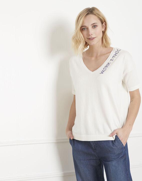 Pull blanc coton biologique Algodao (2) - Maison 123
