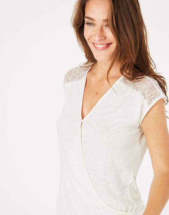 Tee-shirt écru en lin Noha (3) - 1-2-3