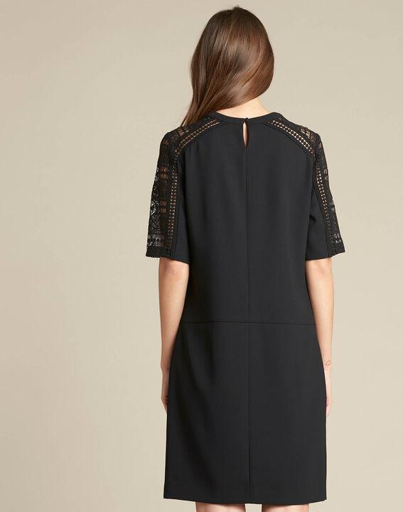 Pastel dual-fabric black lace dress (4) - 1-2-3
