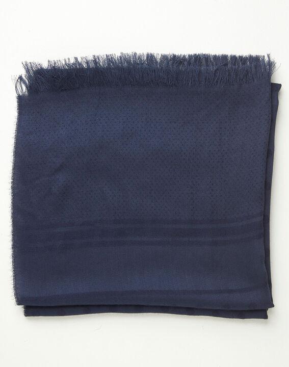 Marineblaues Seidenhalstuch mit Tupfen Adam (2) - 1-2-3