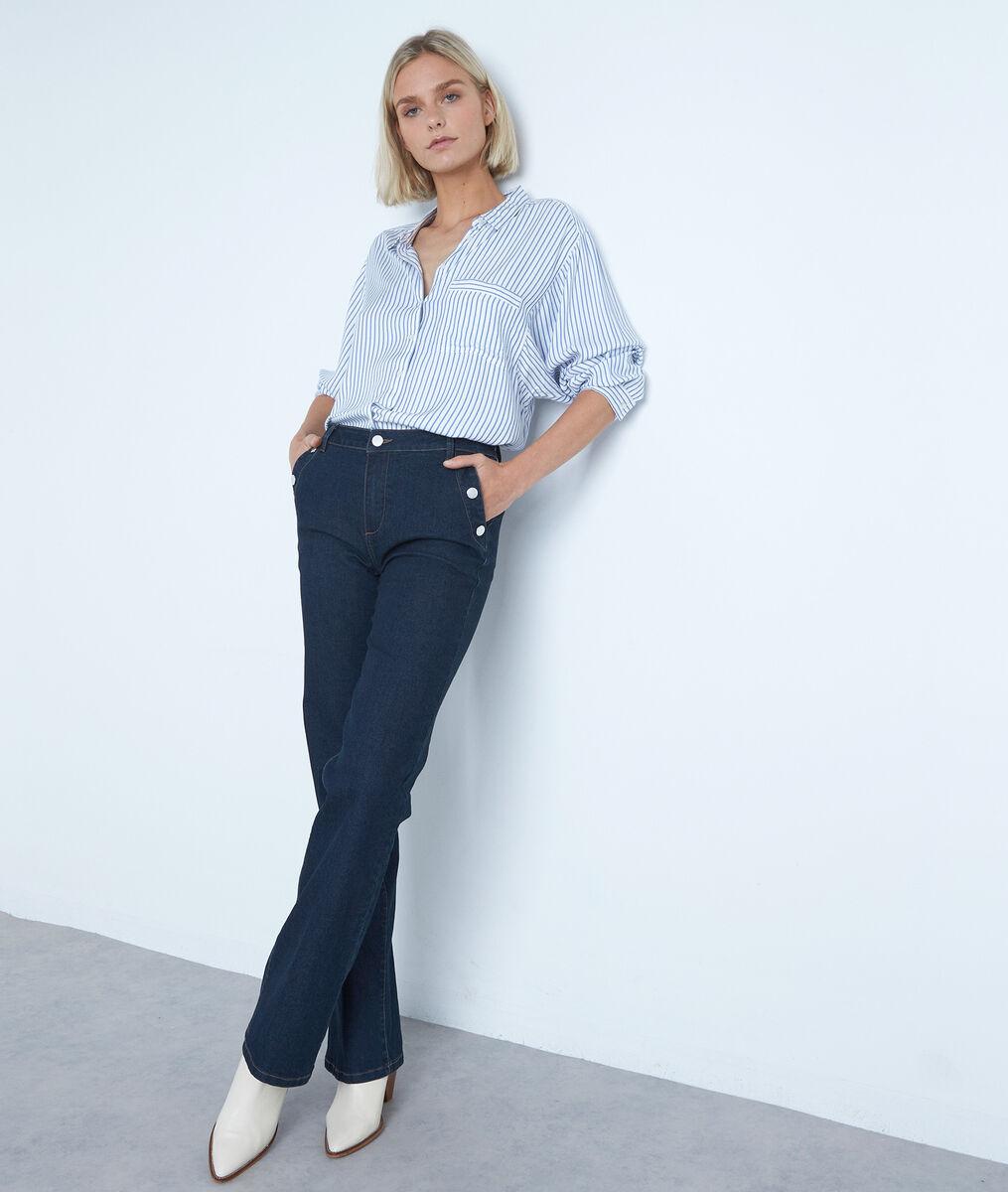 Wijde hemd met blauwe en witte strepen Adila PhotoZ | 1-2-3
