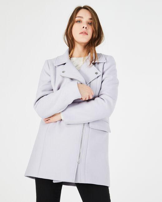 Manteau gris perle en laine mélangée Oryanne (1) - 1-2-3