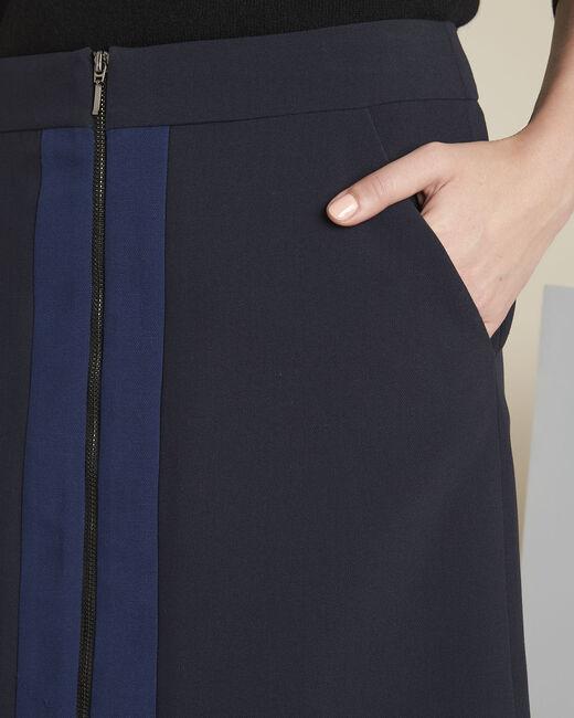 Jupe marine bicolore zip Aramis (2) - 1-2-3