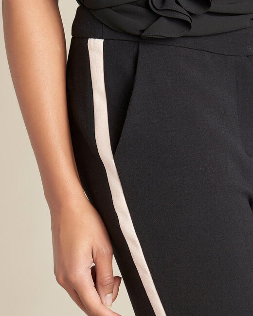 Vadim two-tone black fitted trousers (2) - 1-2-3