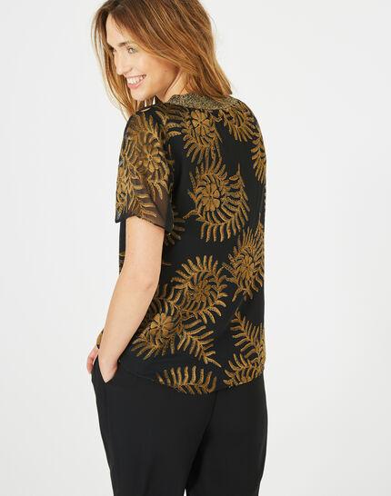 Dorée camel blouse with openwork detailing (4) - 1-2-3