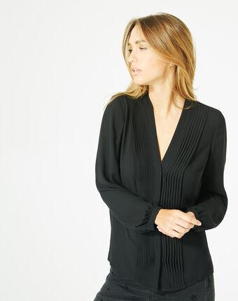 Blouse noire manches longues doris noir.