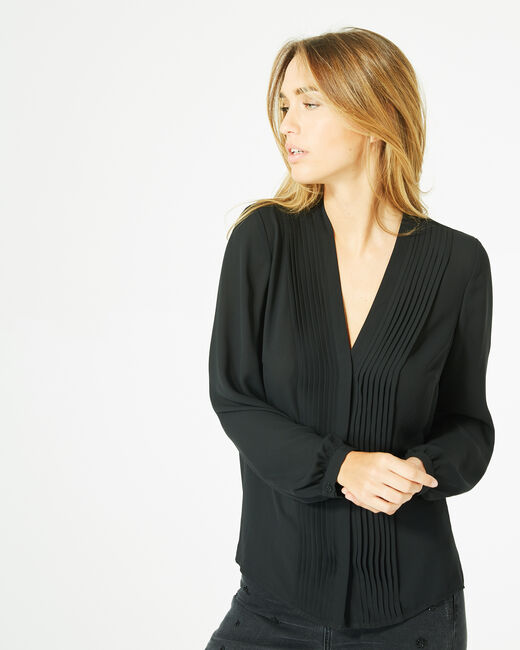 Doris black blouse with long sleeves (1) - 1-2-3