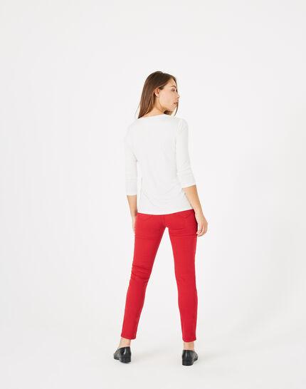 Tee-shirt écru Bianca (5) - 1-2-3