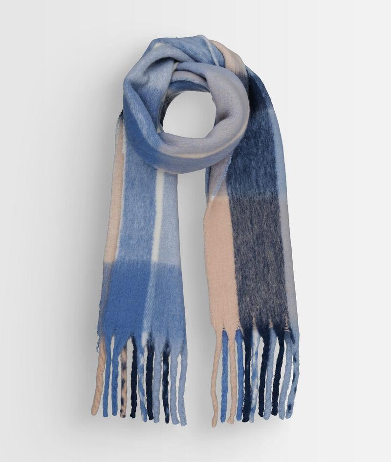 Echarpe à motif tartan XXL bleu Paddy PhotoZ | 1-2-3